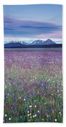 Colorful Mountain Spring Beach Towel