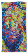 Colorful Nude  Beach Towel