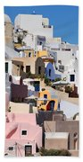 Colorful  Oia Beach Towel