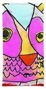 colorful Owl Beach Towel