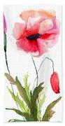 Colorful Poppy Flowers Beach Towel