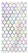 Colorful Quatrefoil Beach Towel