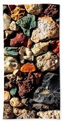 Colorful Rock Wall With Border Beach Towel