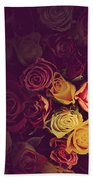Colorful Roses Background Beach Towel