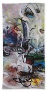 Colorful Seascape Abstract Landscape Beach Towel