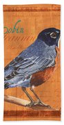 Colorful Songbirds 2 Beach Towel by Debbie DeWitt