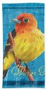 Colorful Songbirds 4 Beach Towel