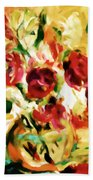 Colorful Spring Bouquet - Abstract  Beach Towel