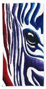 Colorful Stripes Original Zebra Painting By Madart Beach Towel