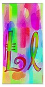 Colorful Texturized Alphabet Ll Beach Towel