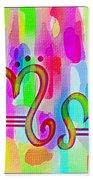 Colorful Texturized Alphabet Mm Beach Towel