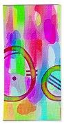 Colorful Texturized Alphabet Oo Beach Towel