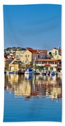 Colorful Town Of Tribunj Waterfront Beach Towel