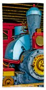 Colorful Train Beach Towel