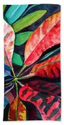 Colorful Tropical Leaves 2 Beach Towel