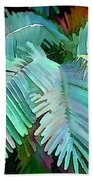 Colorful Tropical Leaves In The Jungle Beach Towel