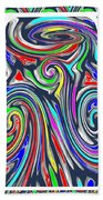 Colorful Twirl Wave Shield Design Background Designs  And Color Tones N Color Shades Available For D Beach Towel