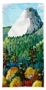Colorful View Of Idyllwild California Beach Towel