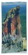 105830-colorful Volcanic Plug Beach Towel