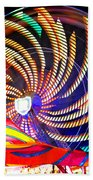 Colorful Wheel Of Lights Beach Towel