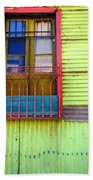 Colorful Window Beach Towel