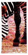Colorful Zebra - Buy Black And White Stripes Art Beach Towel