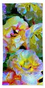 Colors And Roses Beach Towel