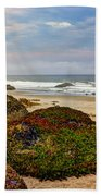 Colors And Texures Of The California Coast Beach Towel