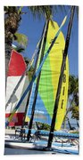 Key West Sail Colors Beach Towel