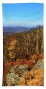 Colors Of Autumn In Shenandoah National Park Beach Towel