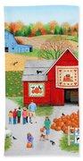 Colors Of Autumn Beach Sheet