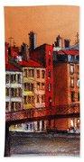 Colors Of Lyon I Beach Sheet