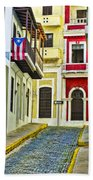 Colors Of Old San Juan Puerto Rico Beach Sheet