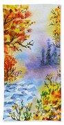 Colors Of Russia Autumn  Beach Towel by Irina Sztukowski