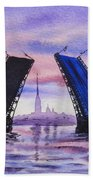 Colors Of Russia Bridges Of Saint Petersburg Beach Towel