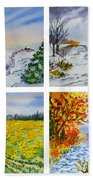 Colors Of Russia Four Seasons Beach Towel