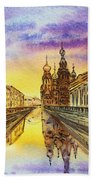 Colors Of Russia St Petersburg Cathedral I Beach Towel