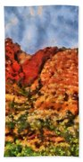 Colors Of Zion Beach Towel