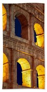 Colosseum And Moon Beach Towel by Inge Johnsson