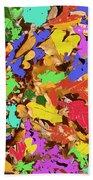 Coloured Oak Leaves By M.l.d. Moerings 2009 Beach Towel