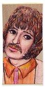 Coloured Pencil Portrait Beach Towel