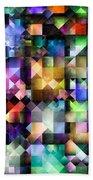 Colourful Fractal Jewels Beach Towel