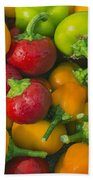 Colourful Mini Bell Peppers Beach Towel
