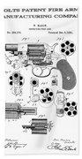 Colt Revolver Patent Art 3  -  1881  Beach Towel