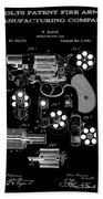 Colt Revolver Patent Art 2  -  1881 Beach Towel