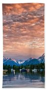 Colter Bay Sunset Beach Towel