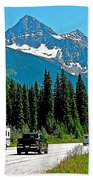 Columbia Mountains In Glacier Np-british Columbia Beach Towel