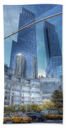 New York - Columbus Circle - Time Warner Center Beach Towel