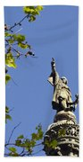 Columbus Monument - Barcelona Beach Towel