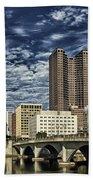 Columbus Ohio Skyline Beach Towel